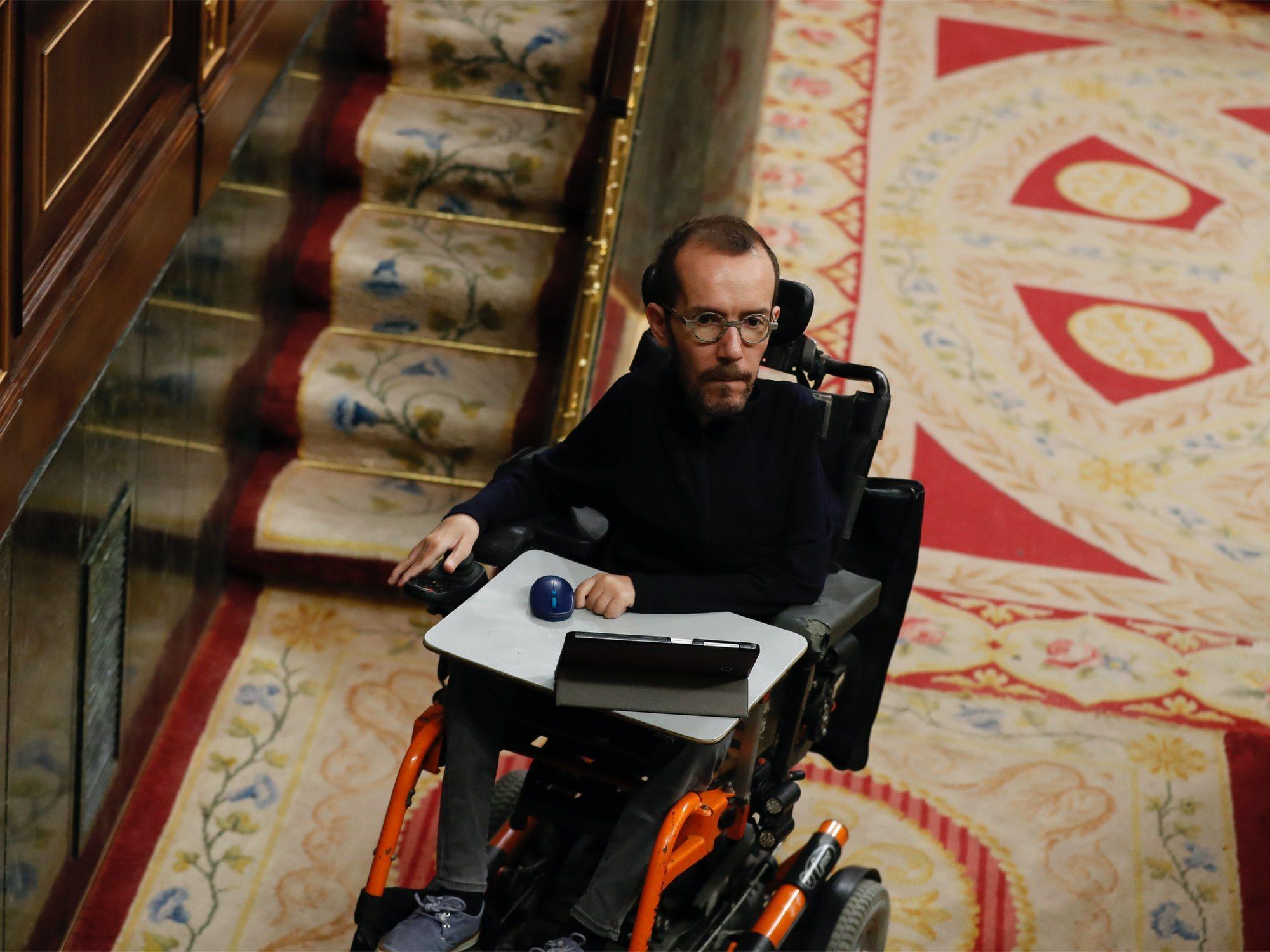El PP ataca a Pablo Echenique y se queja de las posibles obras de accesibilidad del Congreso