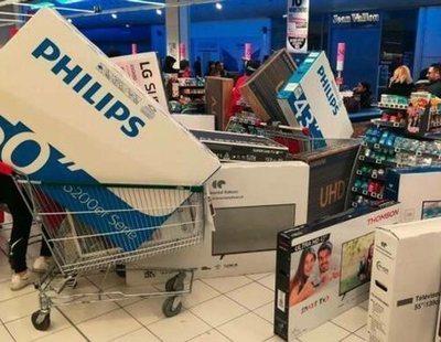 Pánico en el 'híper': a golpes en una tienda tras etiquetar televisores a 30 euros por error