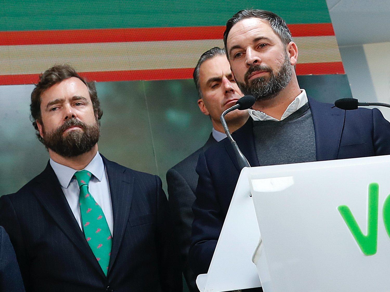 VOX registra una propuesta de ley para ilegalizar ERC, JxCat y EH Bildu
