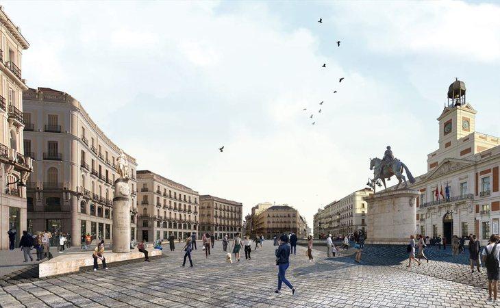 Así quedaría la Puerta del Sol en 2021
