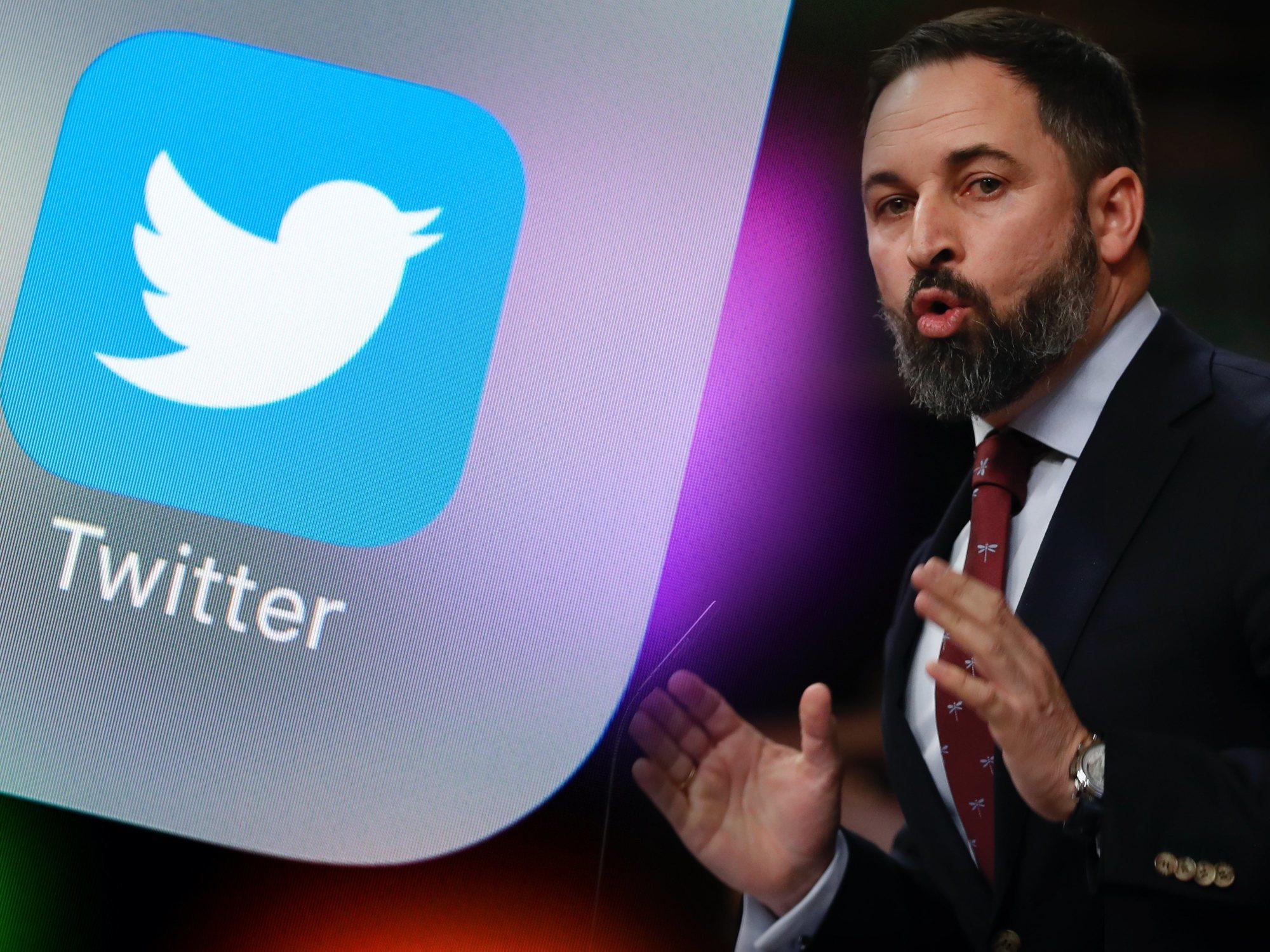 """Twitter suspende la cuenta de VOX por """"incitación al odio"""""""