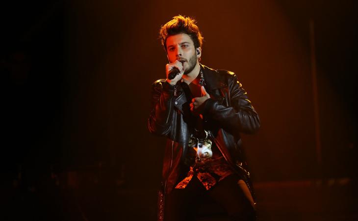 Blas Cantó durante su actuación en 'OT 2018'