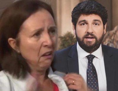 """La lección de una víctima de Gloria al presidente de Murcia: """"¡Que se dejen del pin y se centre!"""""""