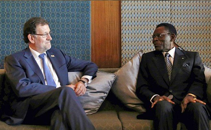 Rajoy, durante un encuentro con Teodoro Obiang