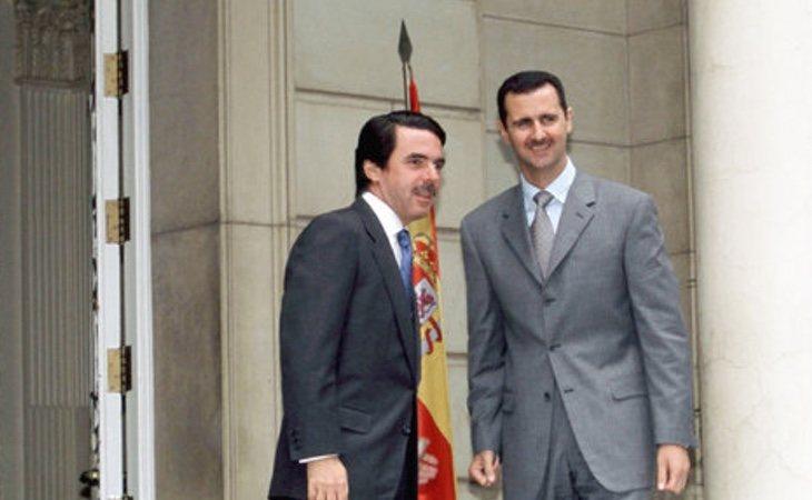 Aznar, junto al dictador sirio Bashar al Assad