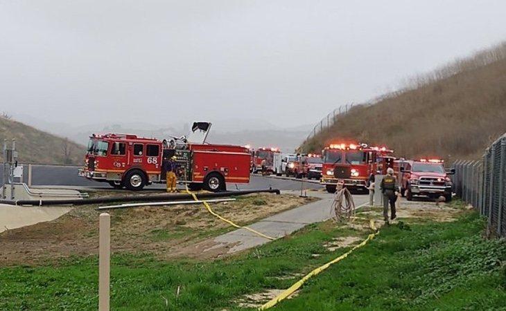 Los servicios de Emergencias, en el lugar del accidente | Los Angeles County Sherif's Department