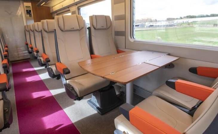 Interior del AVLO, tren AVE 'low cost' de Renfe