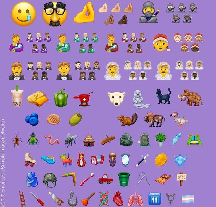 Lista completa de emojis que se van a incorporar durante este año 2020