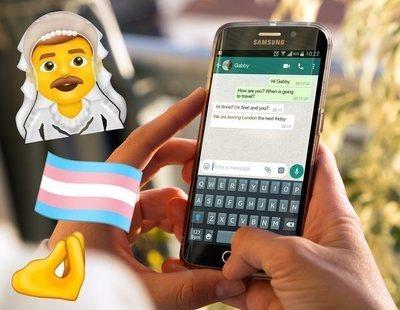 Hombres vestidos de novia, ninjas, mamuts y la bandera trans: nuevos emojis en WhatsApp