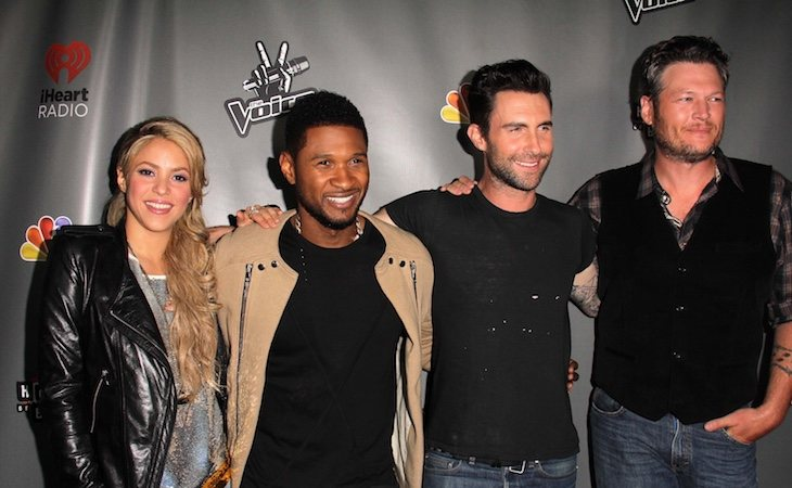 Shakira trabajó en la versión estadounidense de 'La Voz' con Usher, Adam Levine y Blake Shelton