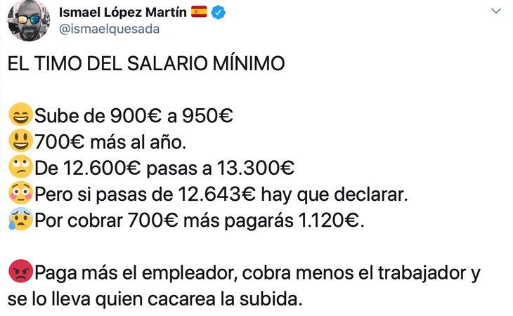 El bulo difundido por Ismael López Martín, responsable de redes del PP