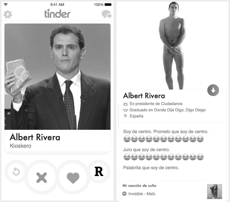 Perfil de Tinder de Albert Rivera