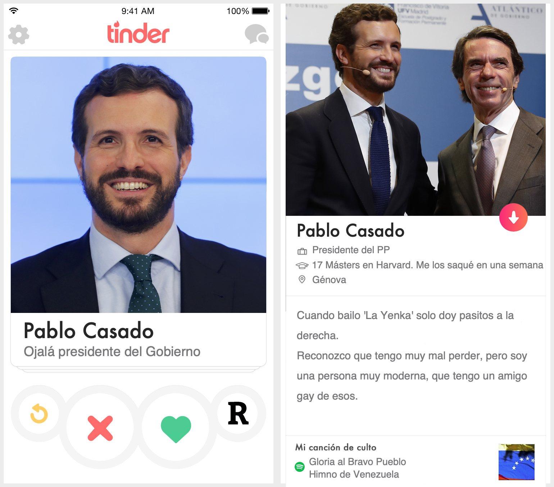 Perfil de Tinder de Pablo Casado