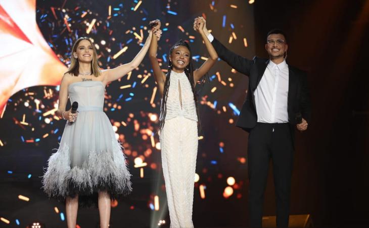 Eden Alene en el momento de ganar la preselección para Eurovisión 2020
