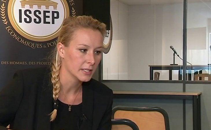 Marion Maréchal, en una entrevista realizada en la sede del instituto que ahora extiende a Madrid