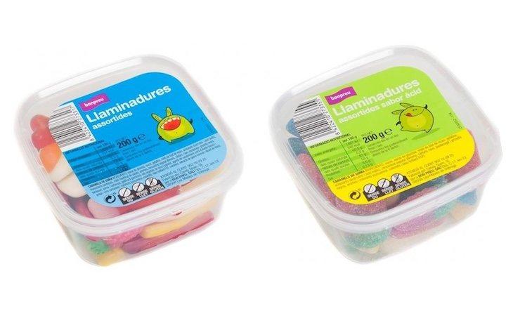 Las gominolas solo fueron distribuidas en Cataluña