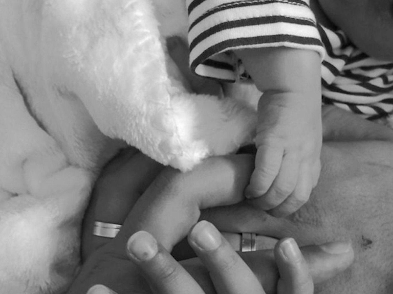 La tierna foto de Rodrigo: el bebé que nació sin rostro cumple cuatro meses