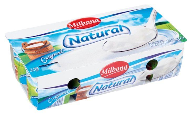 Los yogures de Lidl son de la marca Milbona
