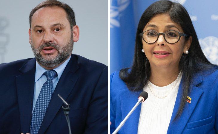 José Luis Ábalos y Delcy Rodríguez
