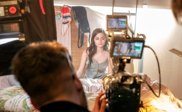 Stefania graba el videoclip de 'Supergirl', el tema que representará en Eurovisión 2020