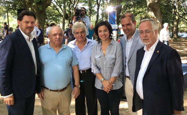 Reunión de la secretaría de Emigración del PP: Ana Vázquez Blanco y Antonio Rodríguez Miranda (a la izquierda) junto a los presidentes del PP en España, Alemania, Reino Unido y Venezuela | Fuente: PP