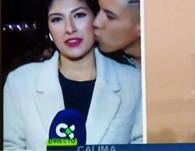 Multa y orden de alejamiento para el joven que besó a una periodista canaria en directo