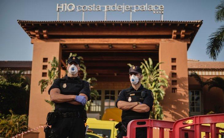 En Tenerife hubo cuarentena de un millar de personas en un hotel de Adeje
