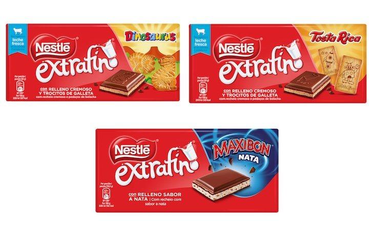Chocolates Nestlé Extrafino rellenos