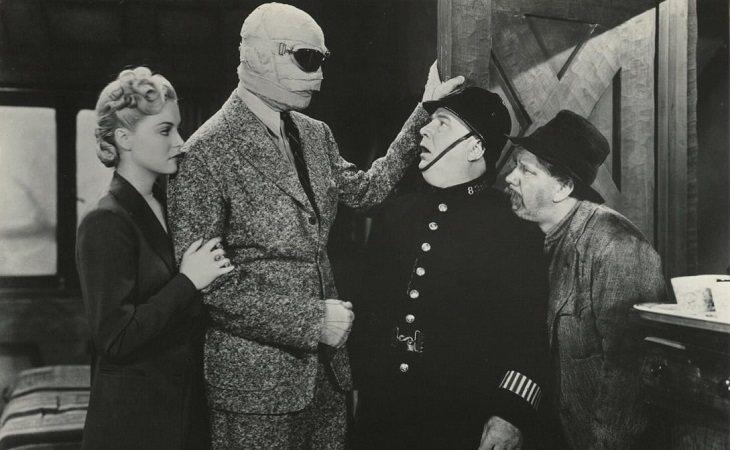 Nan Grey, Vincent Price, Matthew Boulton & Forrester Harvey en 'El hombre invisible vuelve', de Joe May