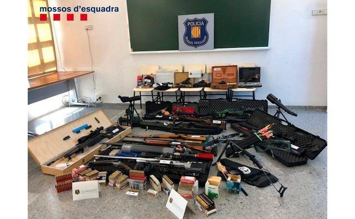 Armas incautadas por los Mossos