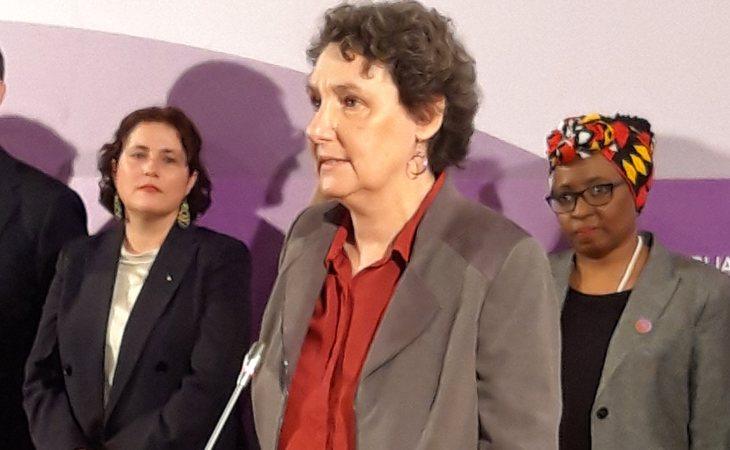 Beatriz Gimeno tomando posesión de su cargo como directora del Instituto de la Mujer