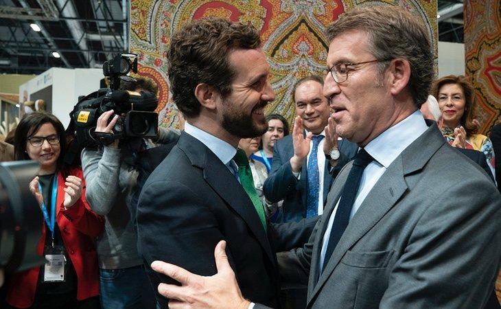 Feijóo quiere contraponer su actividad en la Xunta con el modelo de Casado ante un posible futuro asalto al liderazgo del partido
