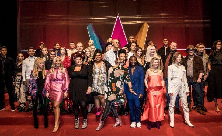 Foto de familia de todos los candidatos del 'Melodifestivalen 2020'
