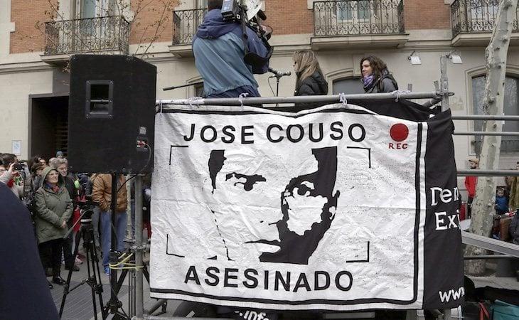 Protesta por el asesinato de José Couso e 2016