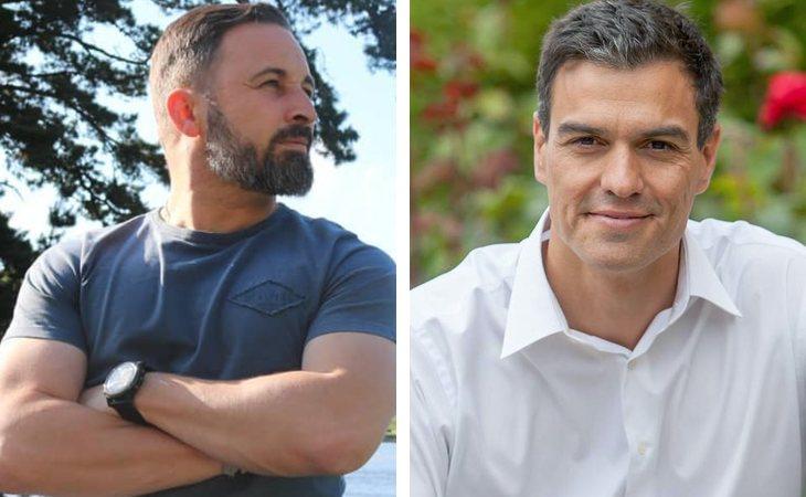 Pedro Sánchez y Santiago Abascal, los políticos más follables