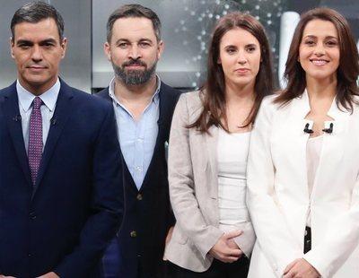 Pedro Sánchez, Santiago Abascal, Inés Arrimadas e Irene Montero, los políticos más follables