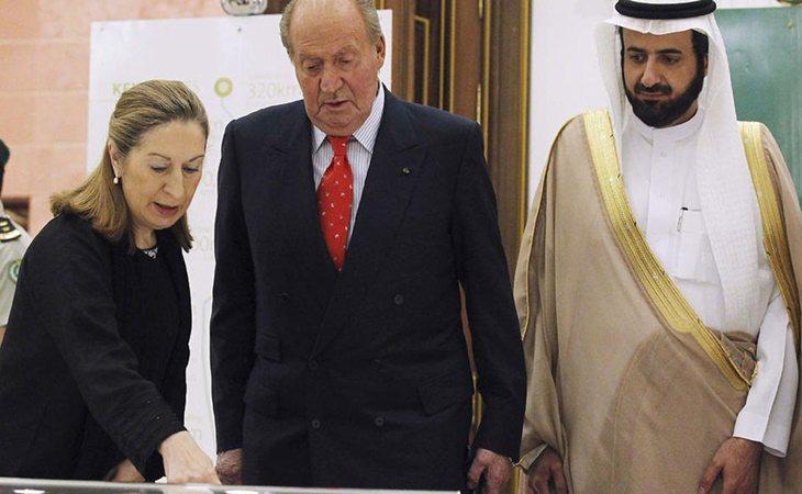 Don Juan Carlos durante un viaje a Arabia Saudí