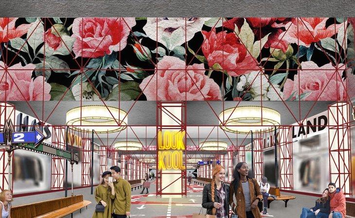 El centro comercial incluirá arte moderno en sus pasillos