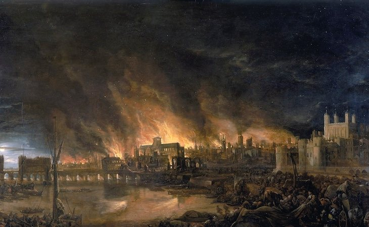 El incendio, conocido como Great Fire of London, fue asolador