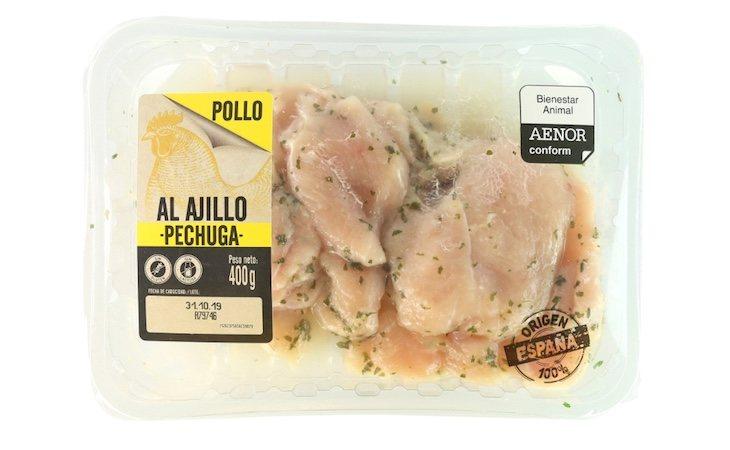La pechuga de Lidl tiene un 87% de porcentaje de carne