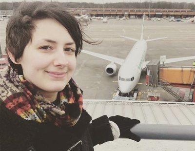 Una mujer planea casarse con el amor de su vida: un avión