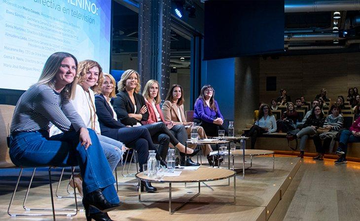 Las seis invitadas a la reunión contaron sus experiencias al frente de puestos directivos en el ámbito audiovisual español
