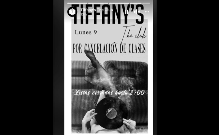 Cartel de Tiffany's The Club