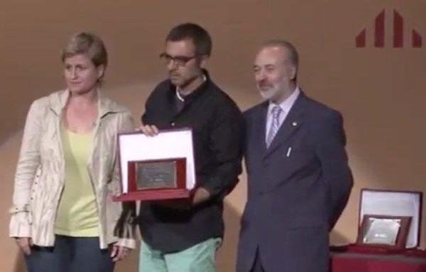Bilbeny, galardonado durante un acto de ERC