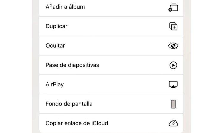En iPhone existe la opción 'Ocultar'