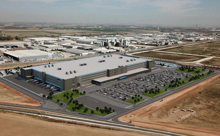 Recreación del nuevo centro logístico de Amazon den Dos Hermanas (Sevilla)