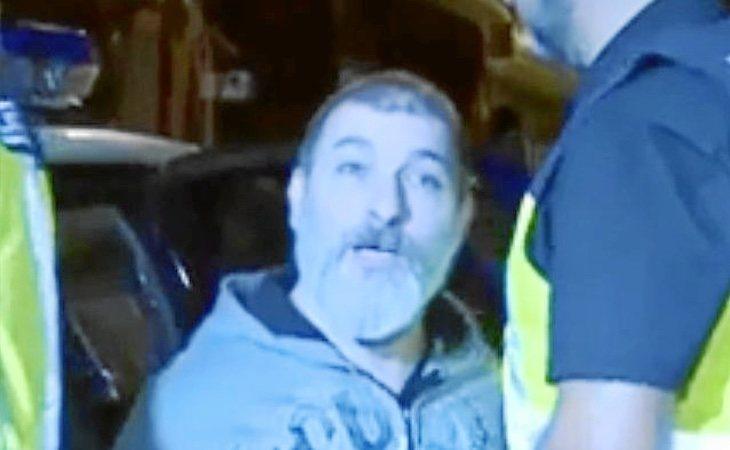 César Román, en el momento de su detención