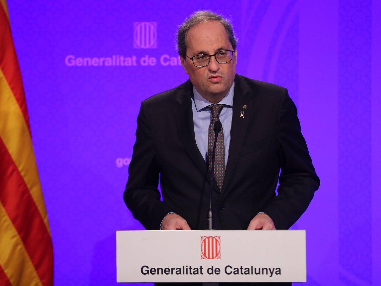 Quim Torra anuncia el confinamiento de toda Cataluña por el coronavirus