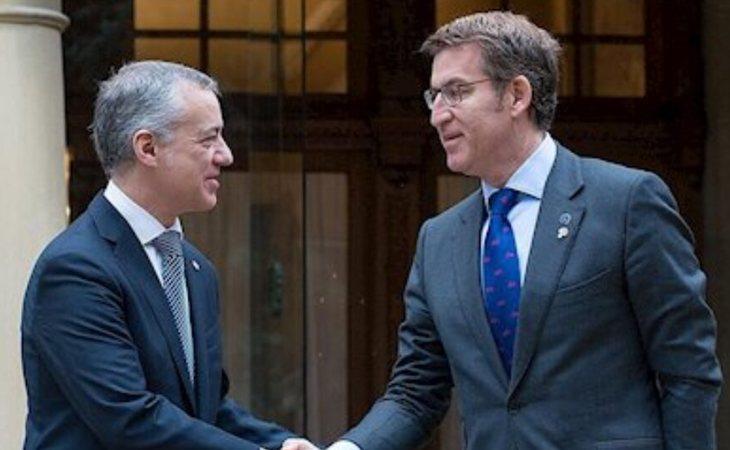 Iñigo Urkullu y Alberto Núñez Feijoó, presidentes de País Vasco y Galicia