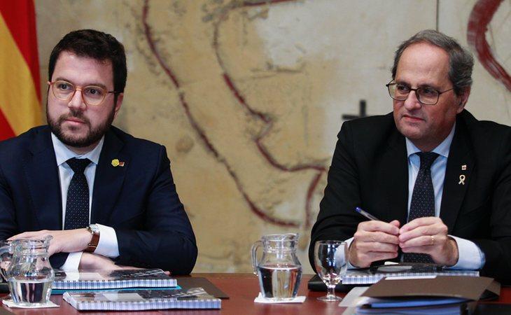 Pere Aragonès y Quim Torra, positivo en coronavirus